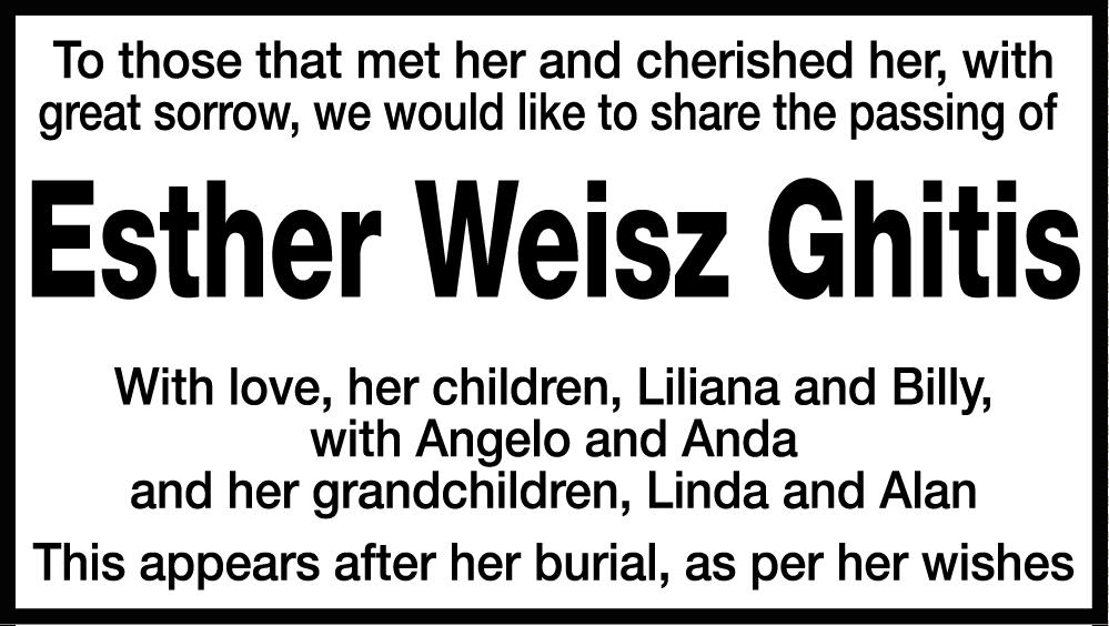 Esther Weisz Ghitis